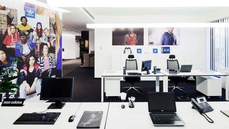Interiérový dizajn pre Adidas Budapšesť